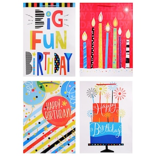 Voila Extra Large Birthday Candle Gift Bags