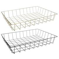 Bulk Essentials Gold Wire Trays 12 625x9 25x2 In Dollar Tree