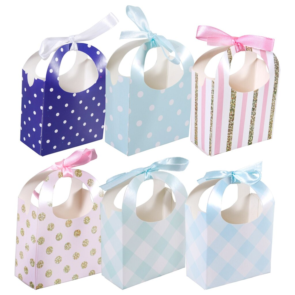 Small Pastel Colored Baby Favor Boxes 10 Ct Packs
