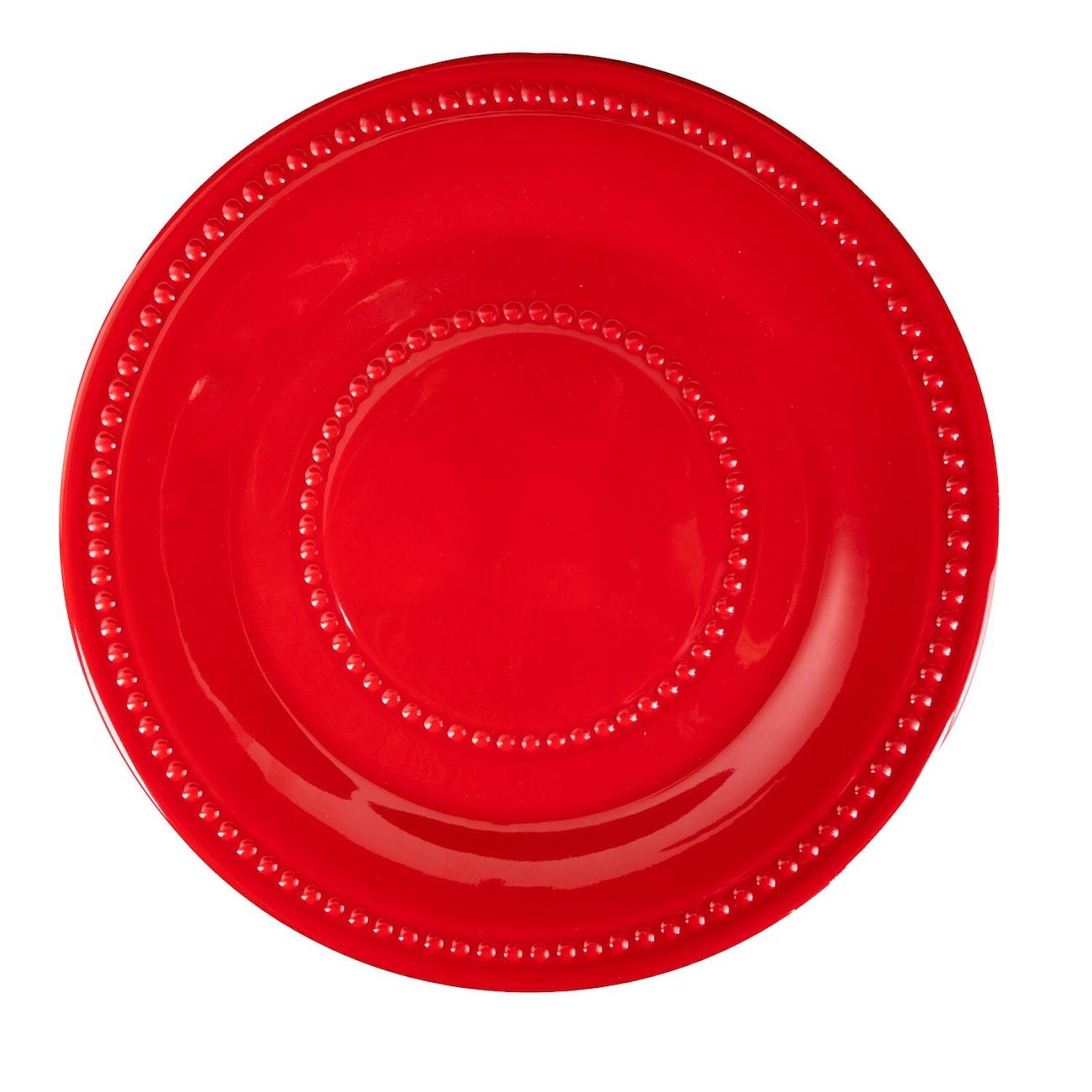 Red Melamine Dinner...