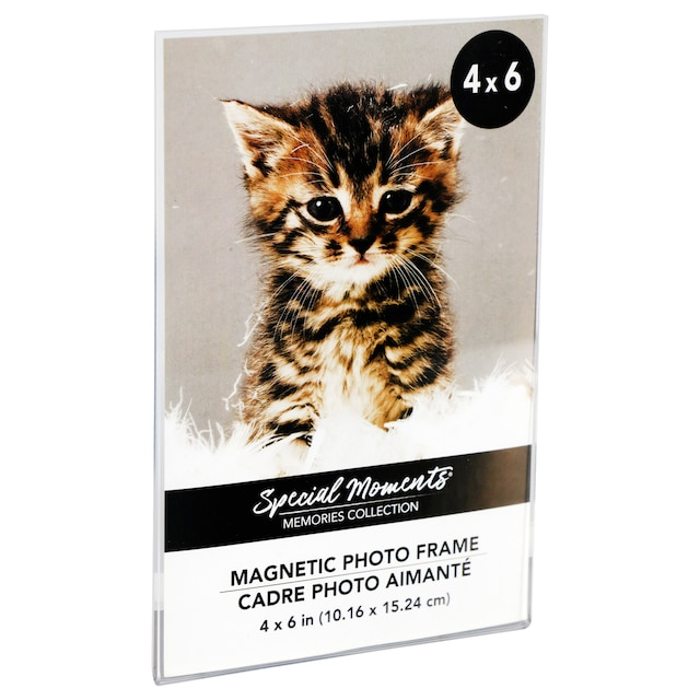Dollartree Magnetic Clear Plastic Photo Frames 4x6
