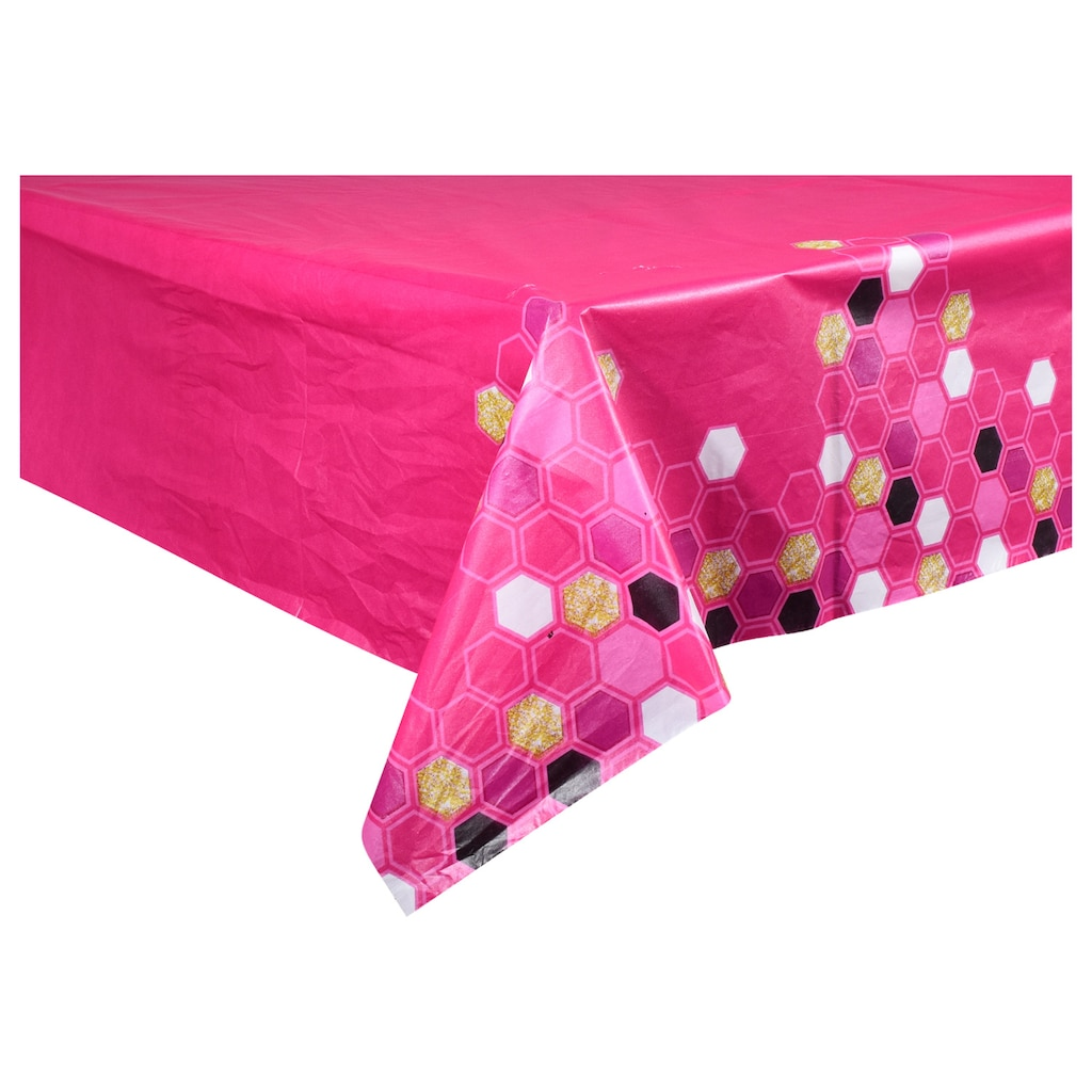 Display Product Reviews For Pink Honeycomb Plastic Table Covers