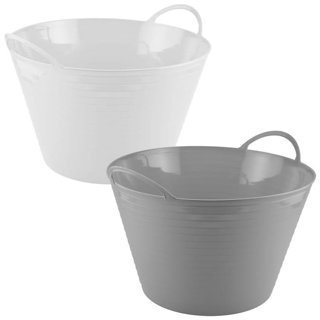 Dollartreecom Bulk Bulk Flexible White And Blue Plastic Storage