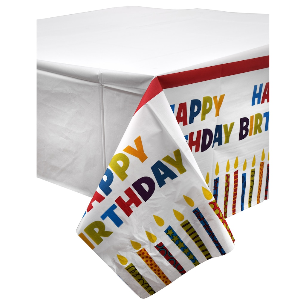 Happy Birthday Plastic Party Table Covers
