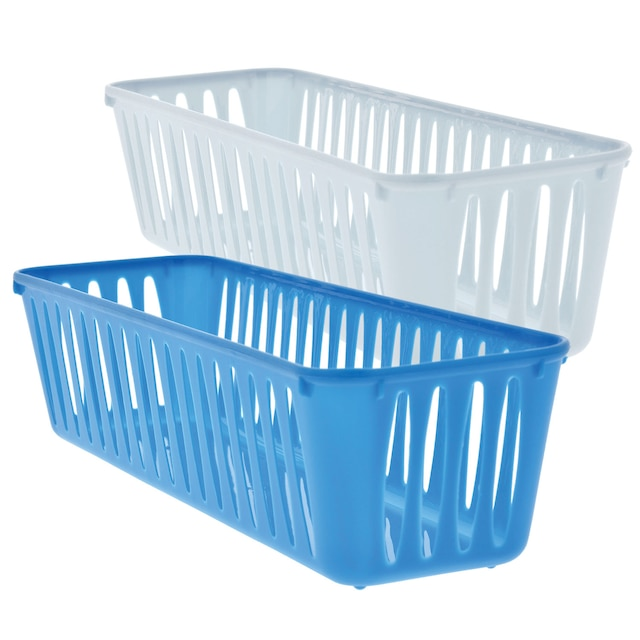 Image result for Long Slotted Multi-Purpose Plastic Baskets dollar tree
