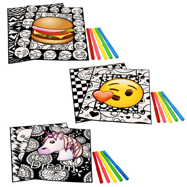 Emoji Velvety Art Coloring Sets, 2-ct. Packs