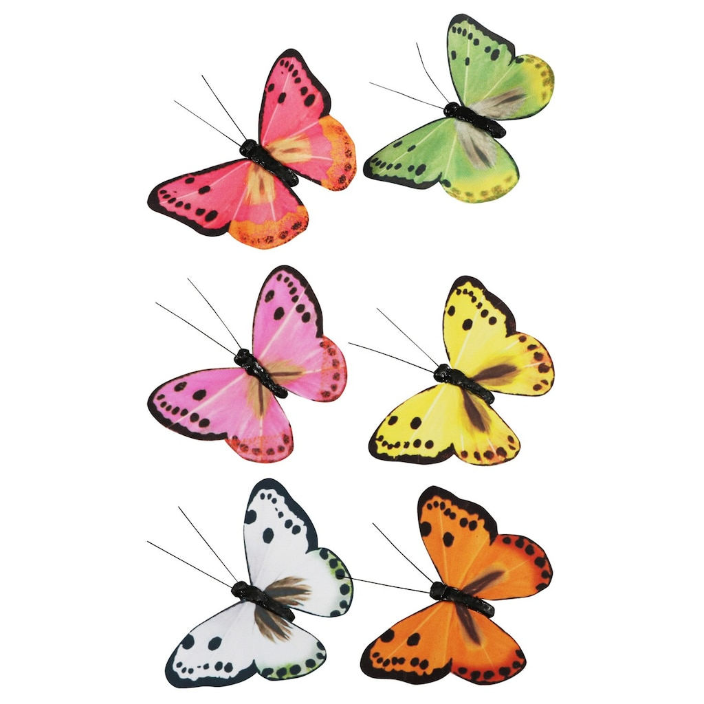 Decorative Butterflies Dollar Tree Inc Fence 8 2 Butterfly New Floral Garden Feathery Decorations Ct Packs