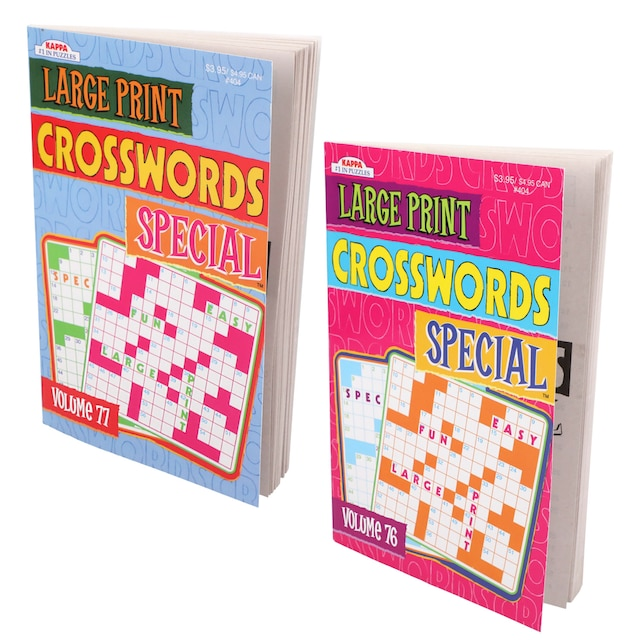Dollartree Kappa Special Large Print Crossword Puzzle Books