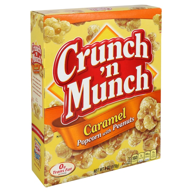Crunch 'n Munch Caramel Popcorn with Peanuts, 6 oz  Boxes
