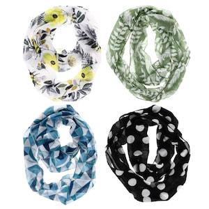 af8fb1ec508 Thin Polyester Infinity Scarves