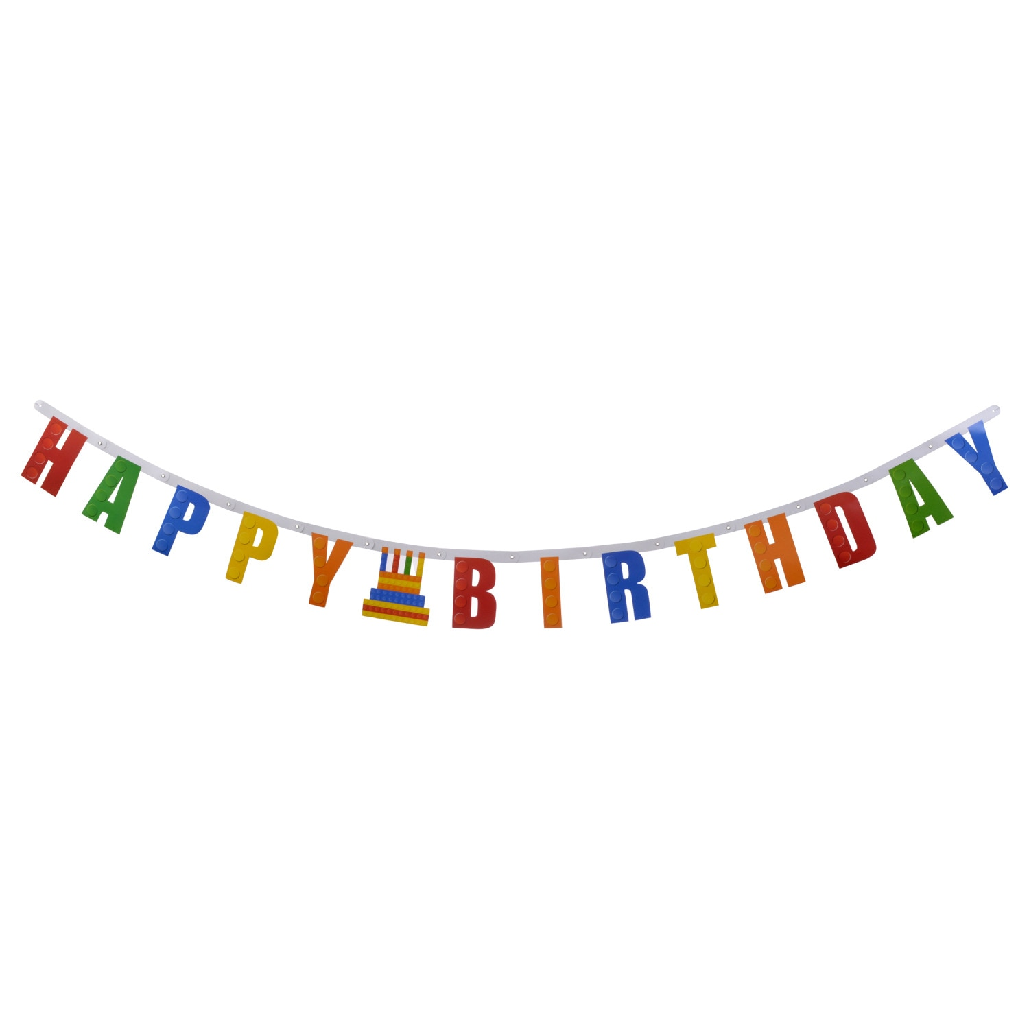 bricks happy birthday letter banners 7 ft