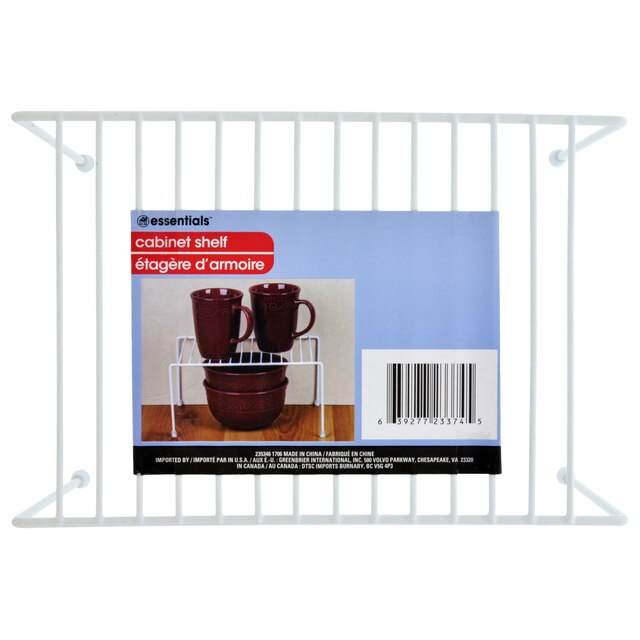 View Essentials White Wire Cabinet Shelves
