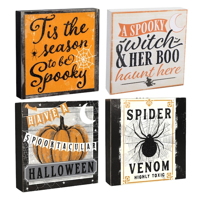 Incredible Festive Halloween Sentiment Tabletop Signs 1X5 875X5 875 In Download Free Architecture Designs Scobabritishbridgeorg