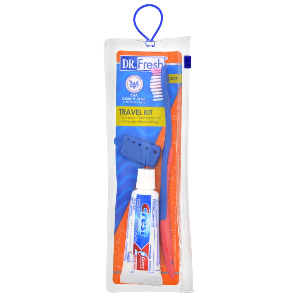 636bf5d91 Plackers Travel Toothbrush with Crest Toothpaste