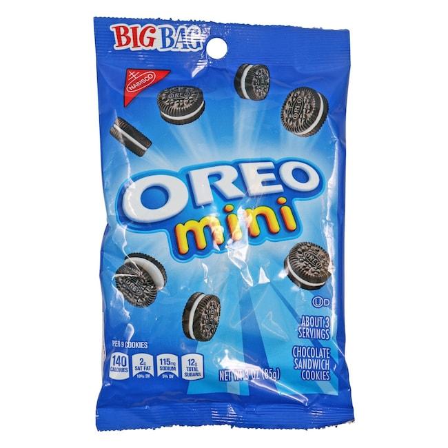 Nabisco Oreo Mini Bite-Size Cookies, 3-oz  Bags