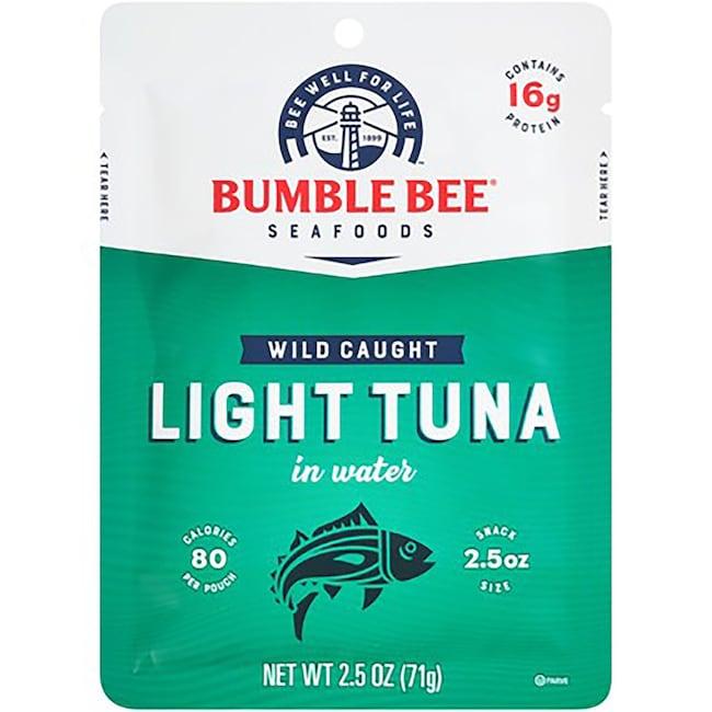 Bumble Bee Premium Light Tuna, 2 5 oz  Pouches
