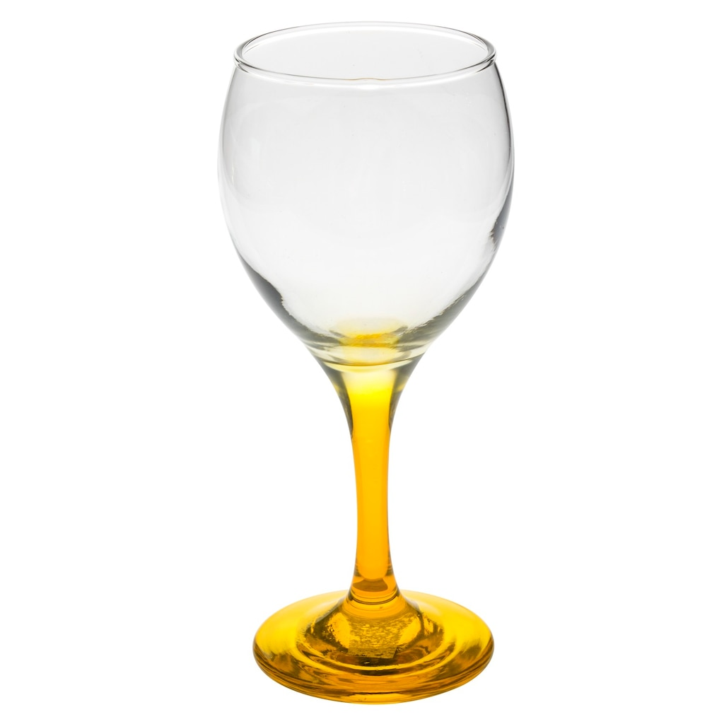 Yellow Stemmed Wine Gles 10 5 Oz