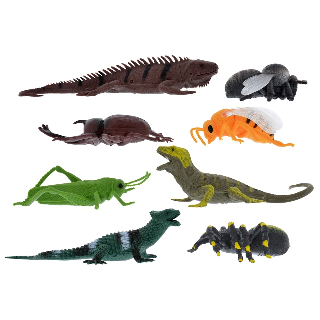 Jumbo Plastic Bugs And Reptiles 7 In