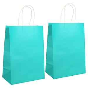 View Teal Kraft Paper Gift Bags
