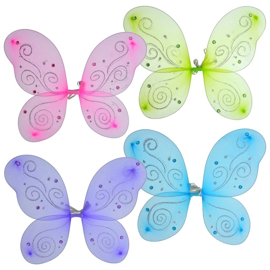 49b4f8d0d545f Glittery Dress-Up Fairy Wings with Plastic Gems