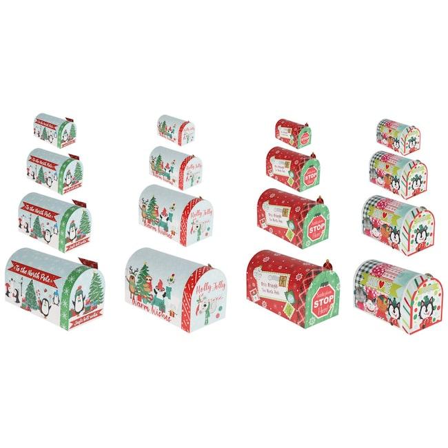 Mailbox Shaped Nesting Christmas Gift Boxes