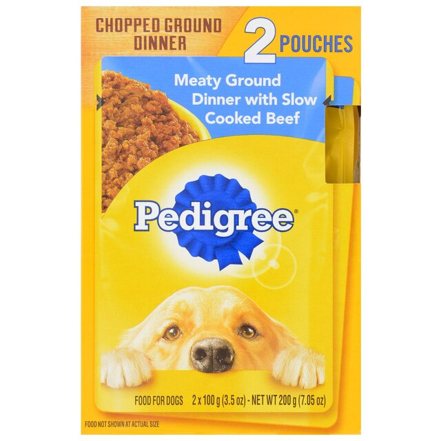 Dollartree Pedigree Single Serve Pouches Of Beef Dog Food 2
