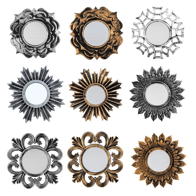Dollartree Mirrors With Plastic Retro Frames 95 In