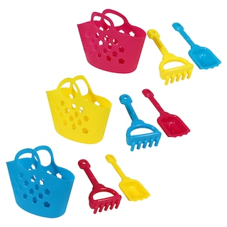 Beach Toy Totes, 3-pc. Sets
