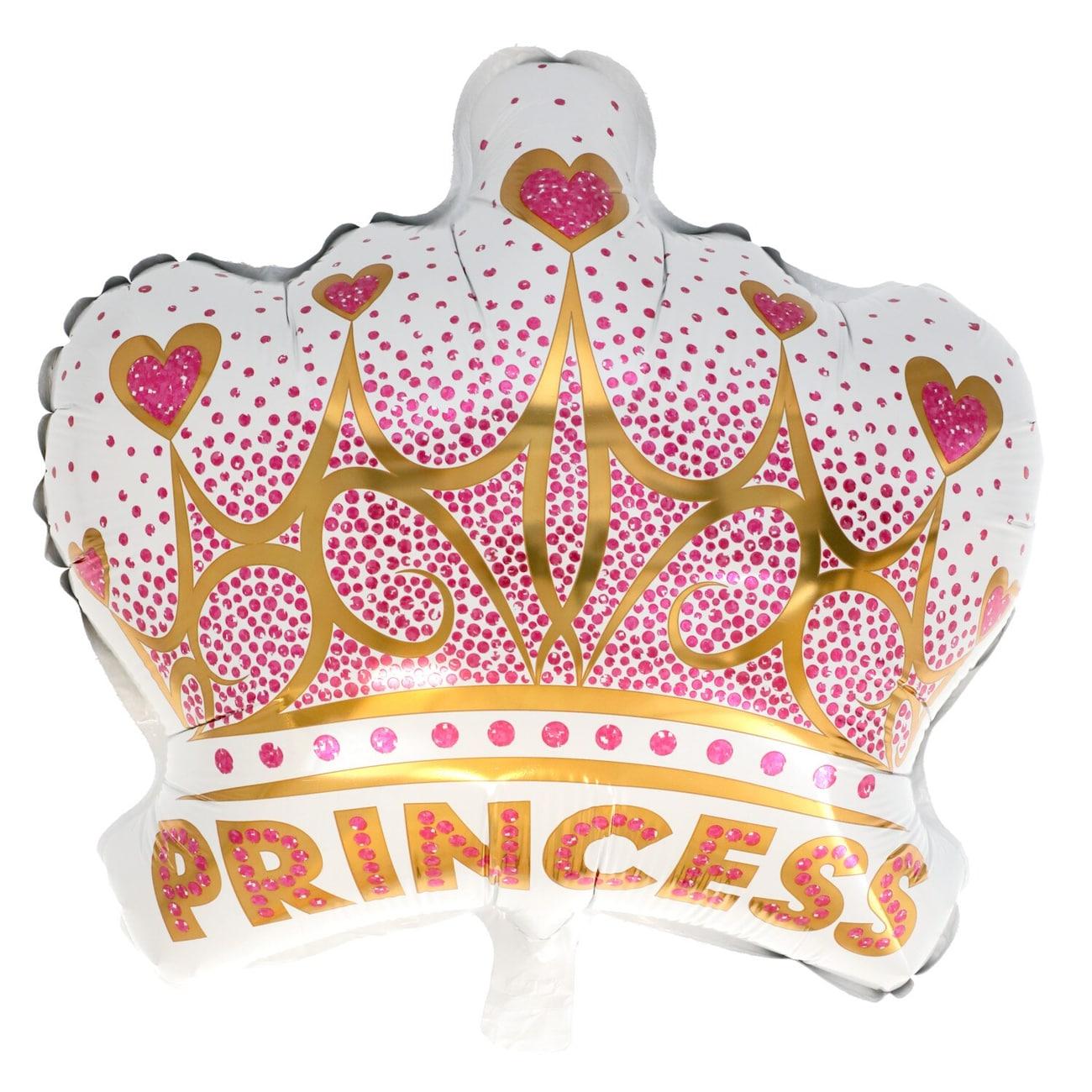 Princess Crown Foil Balloons
