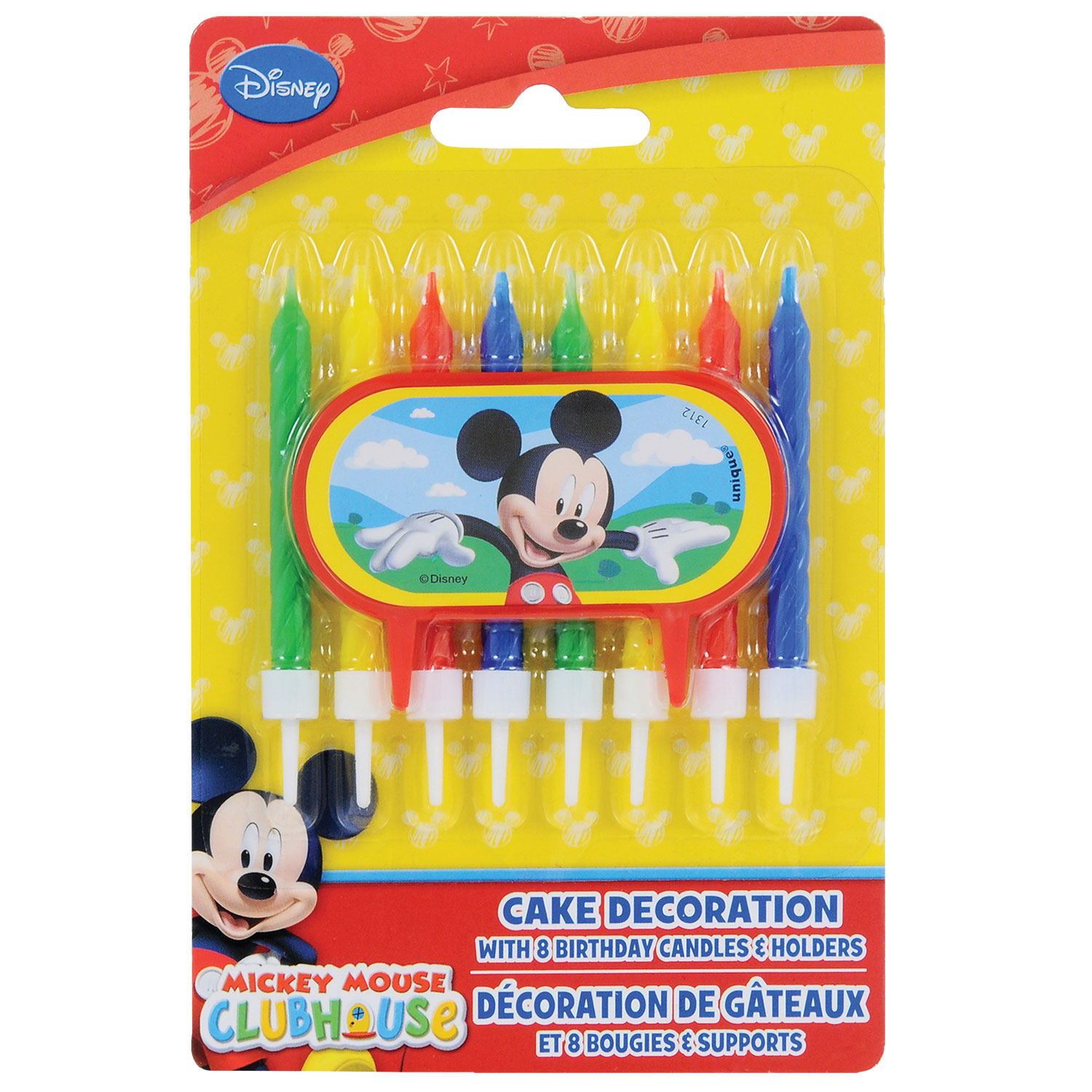 Dollartree number birthday candles on a stick 3 pc packs disney mickey mouse clubhouse birthday candles with cake decor izmirmasajfo