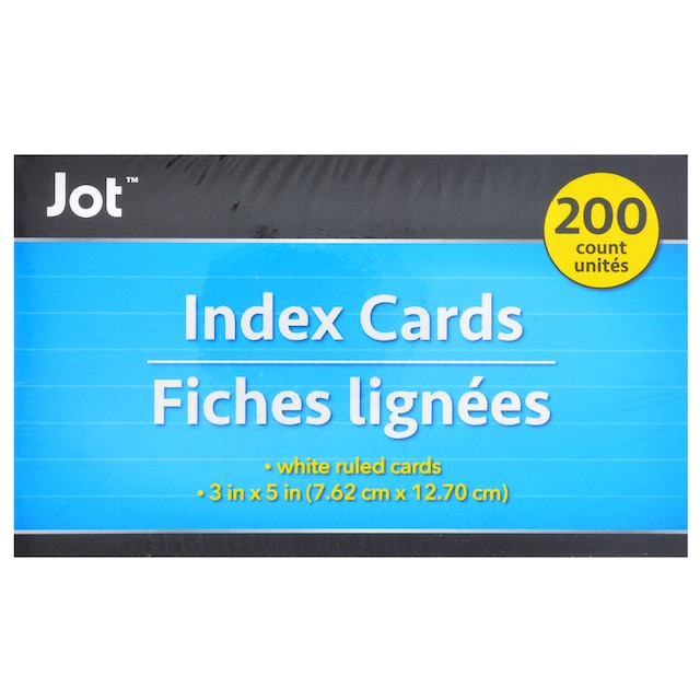 Jot 3x5 In Ruled White Index Cards 200 Ct Packs