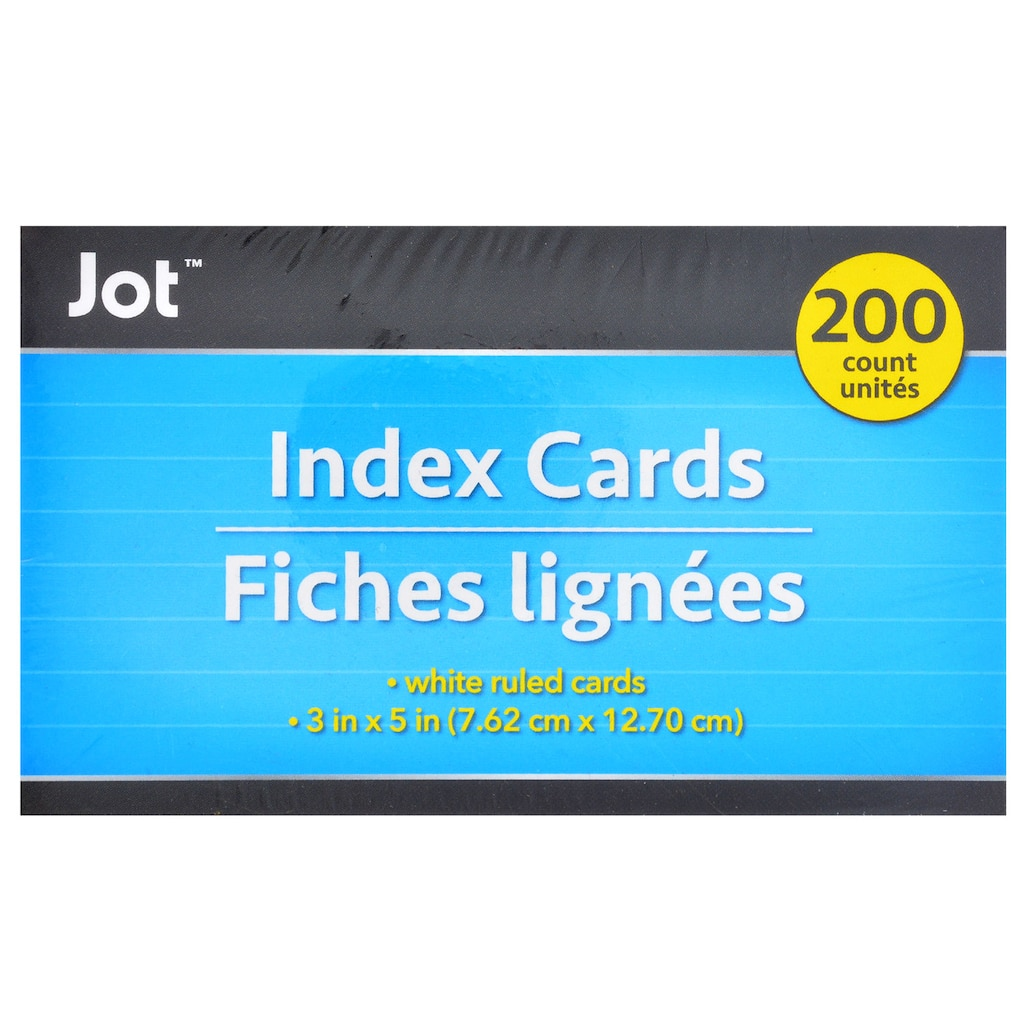 Ruled White Index Cards 200 Ct Packs