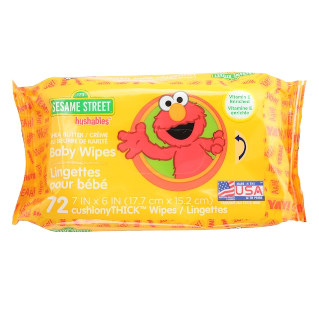 Bulk Sesame Street Hushables Scented Baby Wipes 72 Ct
