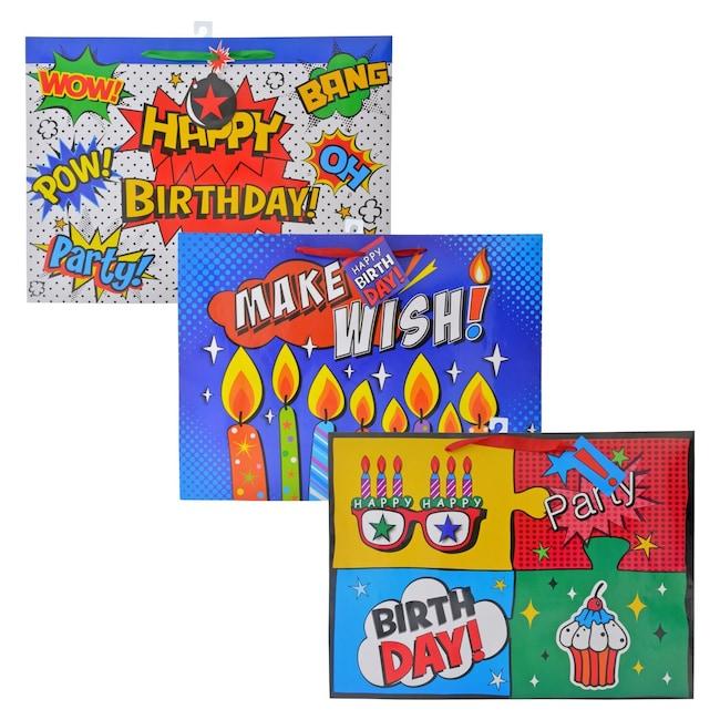 XL Comics Style Birthday Gift Bags