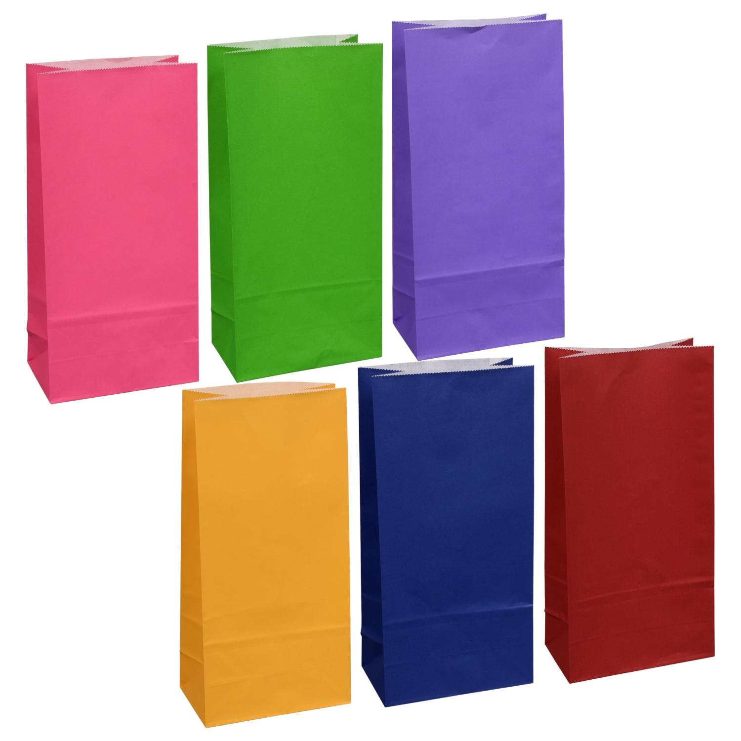 Small Colorful Paper Gift Sacks, 10-ct. Packs