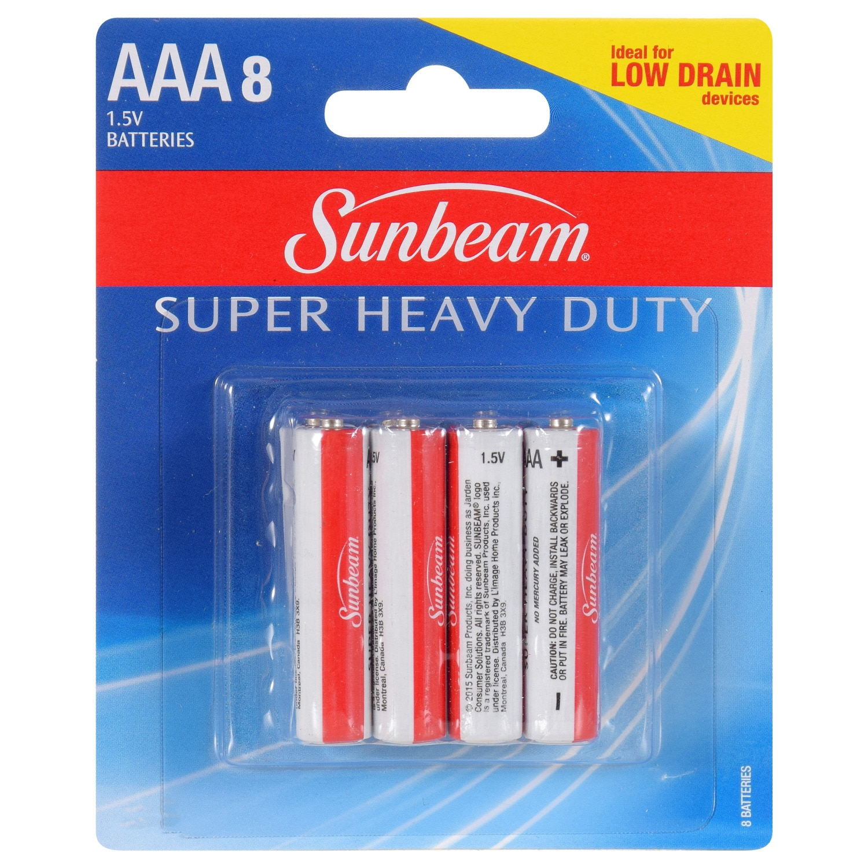 Sunbeam Super Heavy Duty Batteries 8 Pack AAA