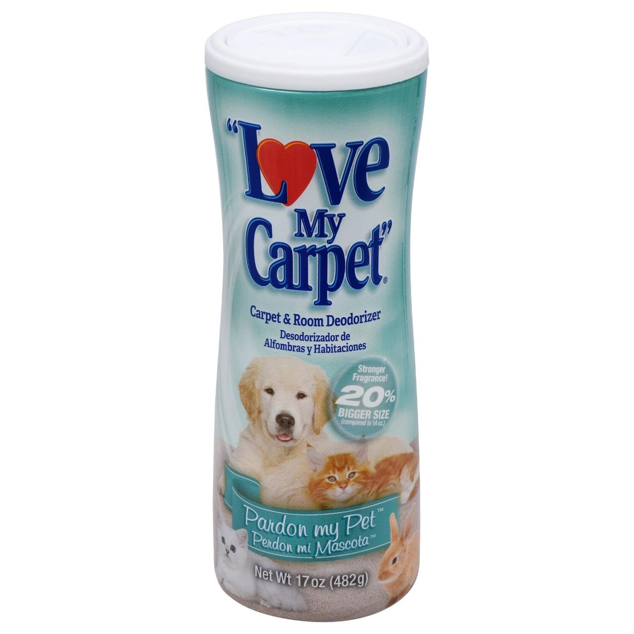 Love My Carpet Pardon My Pet 2 In 1 Carpet Room Deodorizer 17 Oz