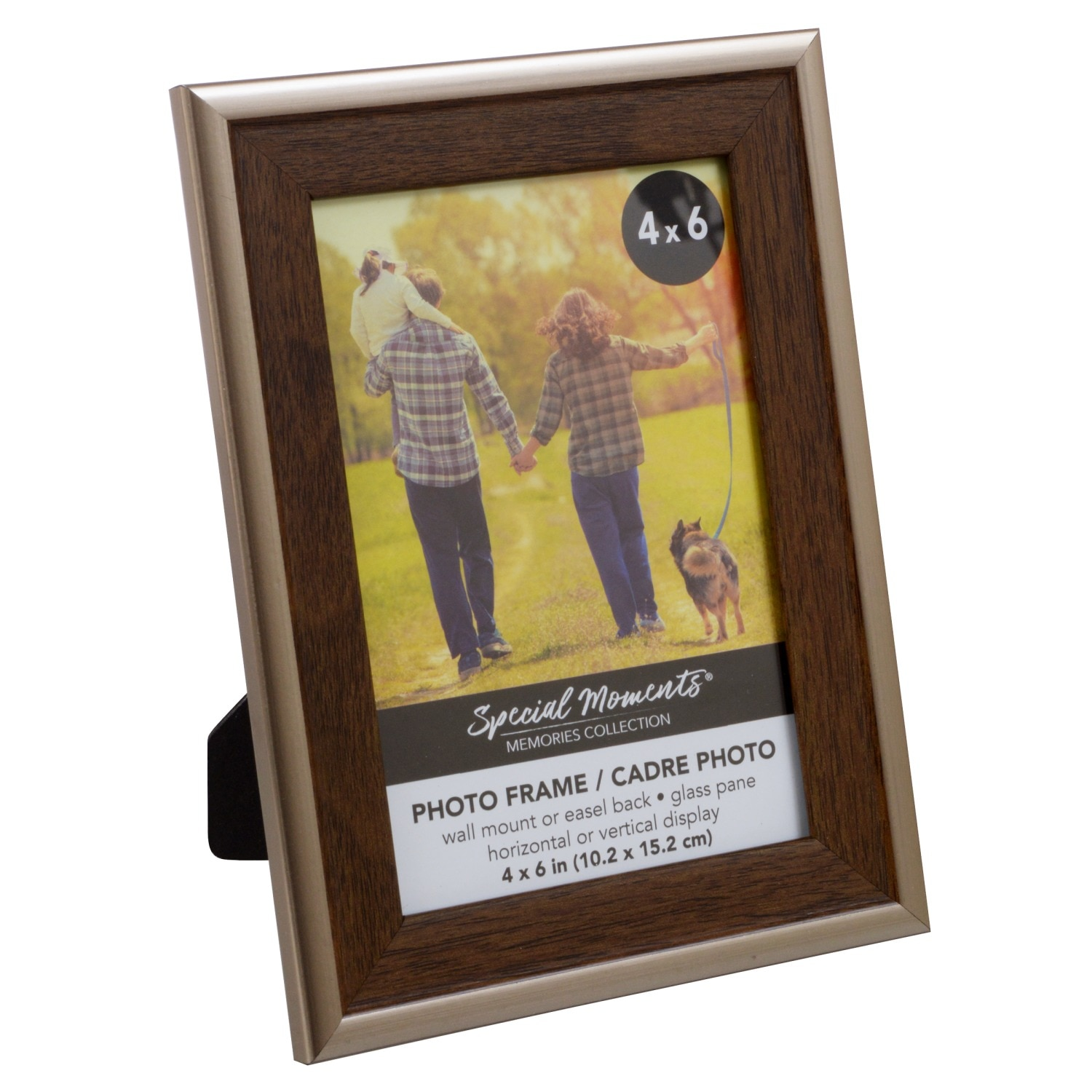 Special Moments Wood Look Frames With Plastic Bronze Borders 4x6 In