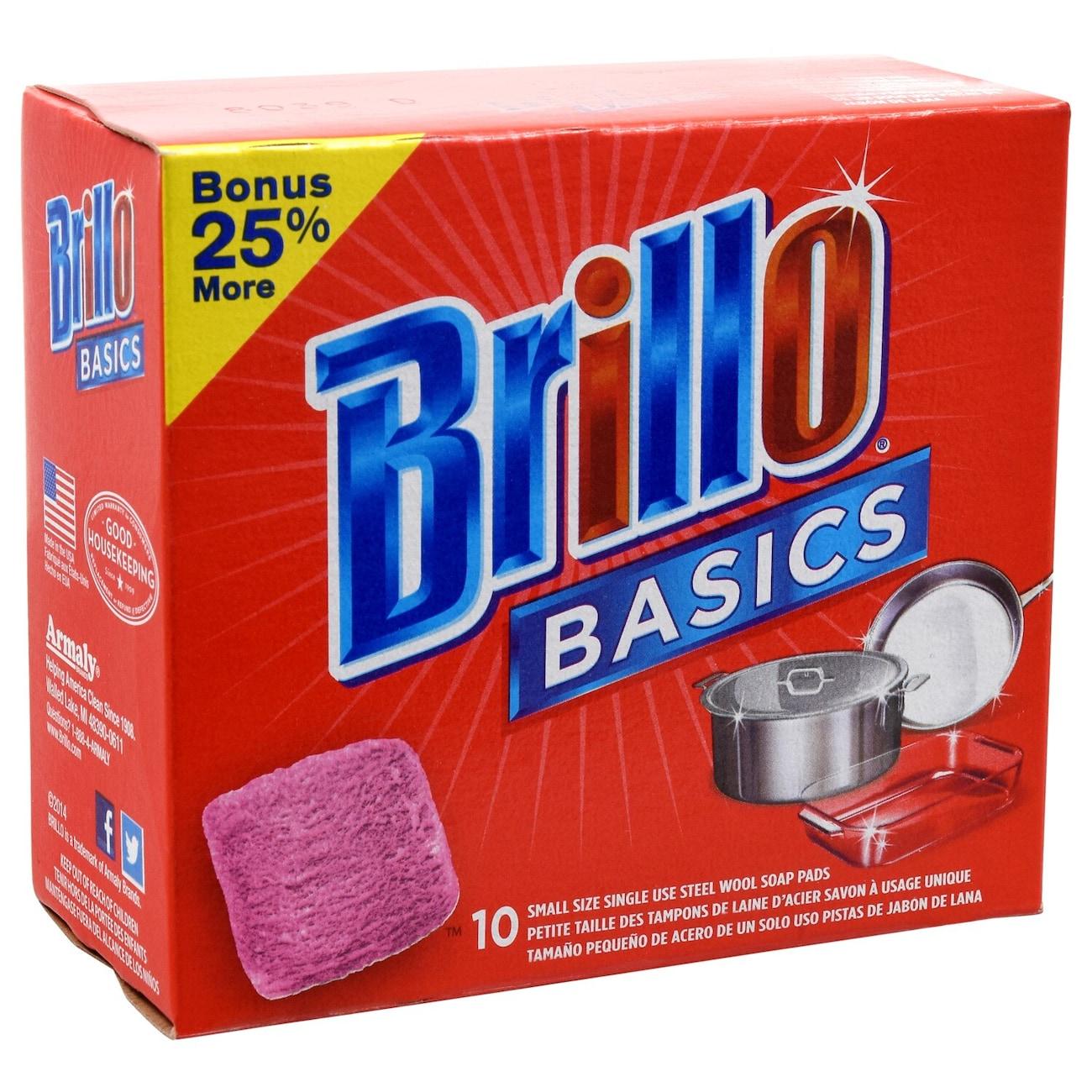 Brillo Basics Steel Wool Soap Pads 8 Ct Bo