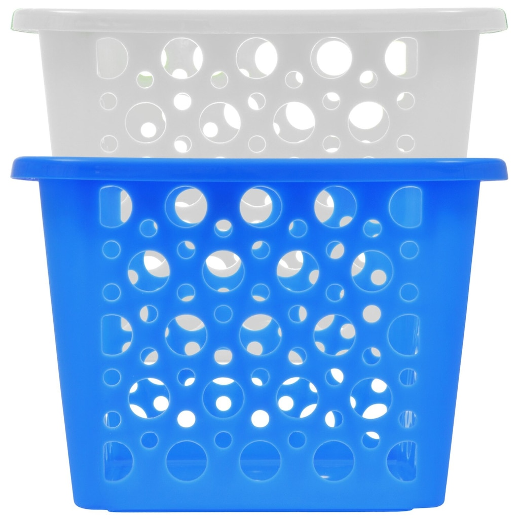 Plastic Slotted Storage Baskets With Handles