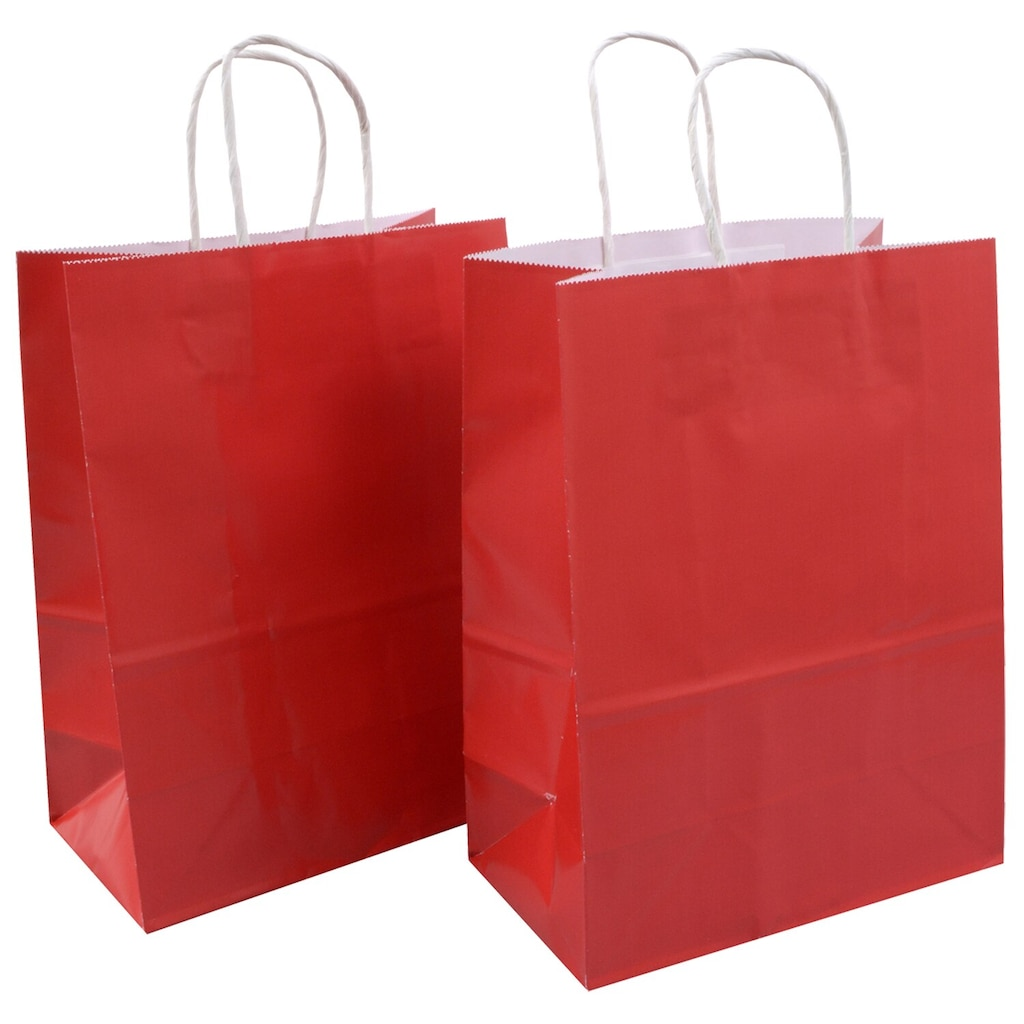 23d97829e Voila Artistic Red Glossy Medium Gift Bags, 8x10 in., 2-ct.