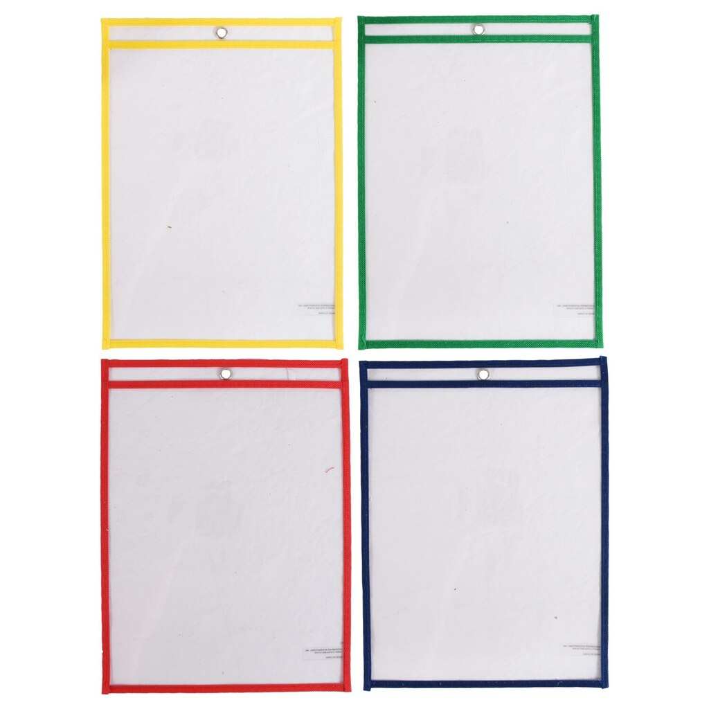 c9f777af921 Teaching Tree Reusable Dry-Erase Plastic Pockets