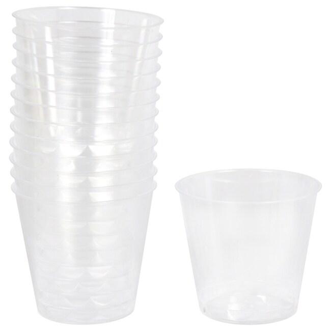 Clear Plastic 1 Fl Oz Shot Glasses 24 Ct Packs