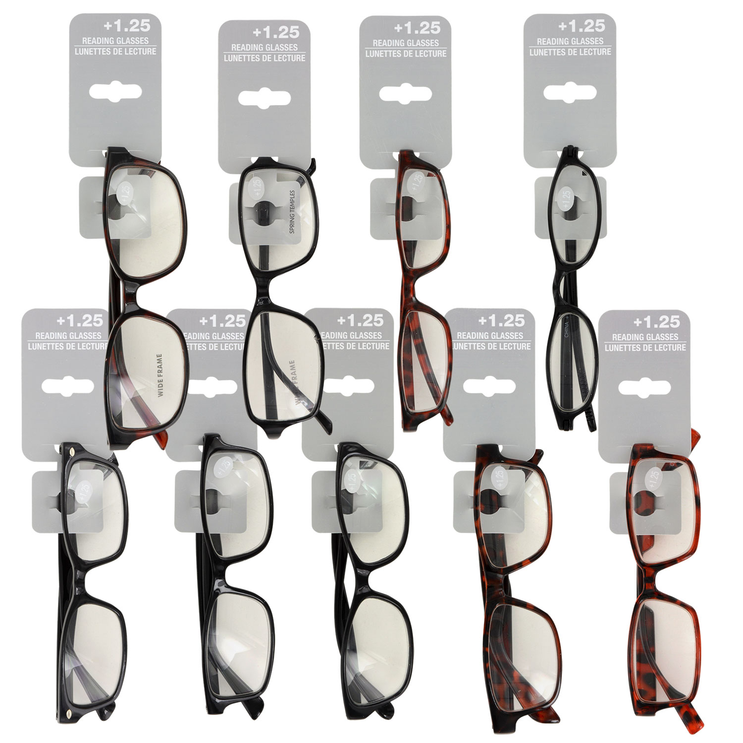 697436b15043 Fashion Reading Glasses with +1.25 Diopters