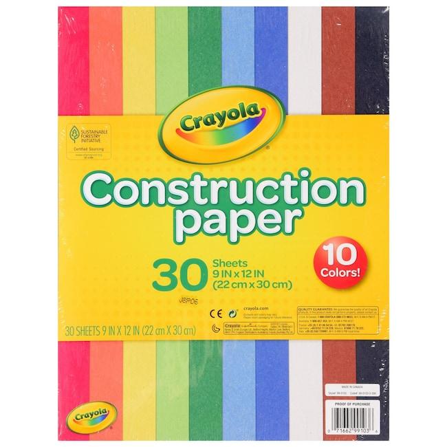 Crayola R Construction Paper 30 Sheet Packs