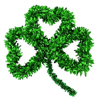 View St. Patrick's Day Tinsel Shamrock Wall Decorations, 15 in.. Image 2 of 2