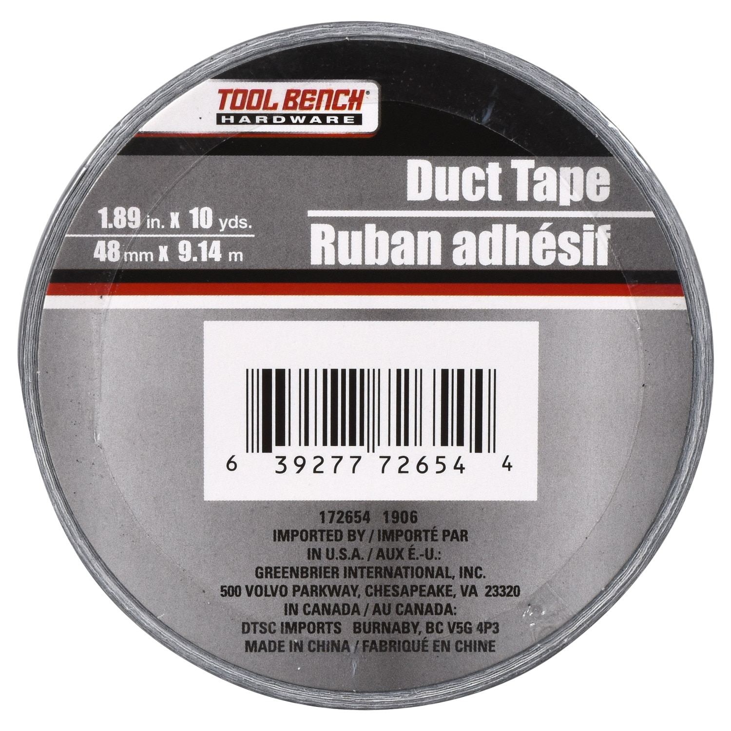 Tool Bench Hardware Silver Duct Tape 10 Yd Rolls China Thick Pvc Pipe For Electrical Wire Photos Pictures Madein