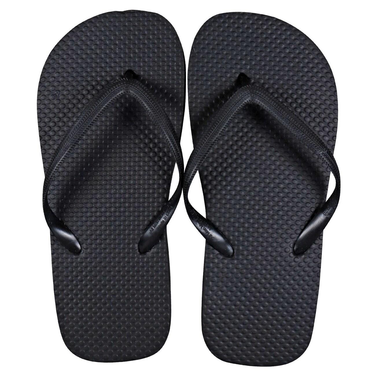 aed5aa246 Kids  Solid Black Rubber Flip Flops