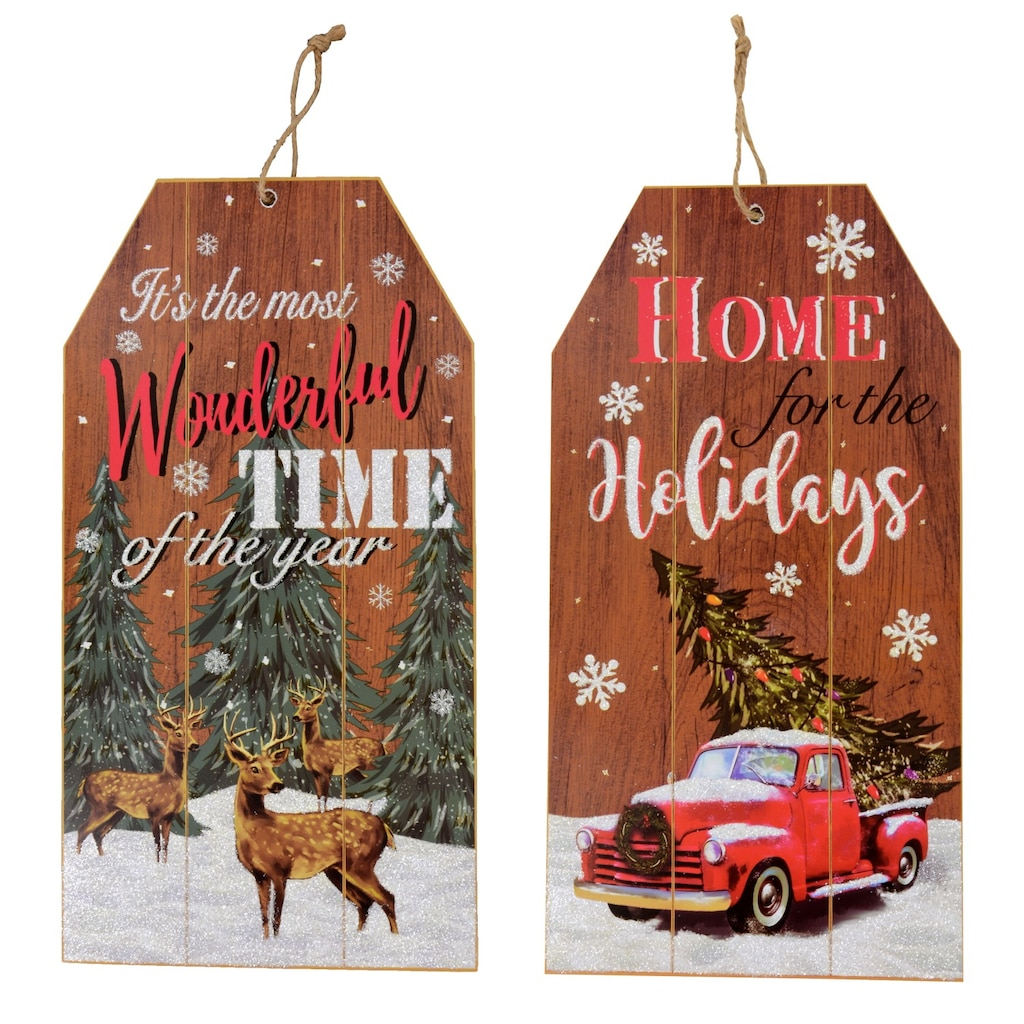 christmas house gift tag wall signs
