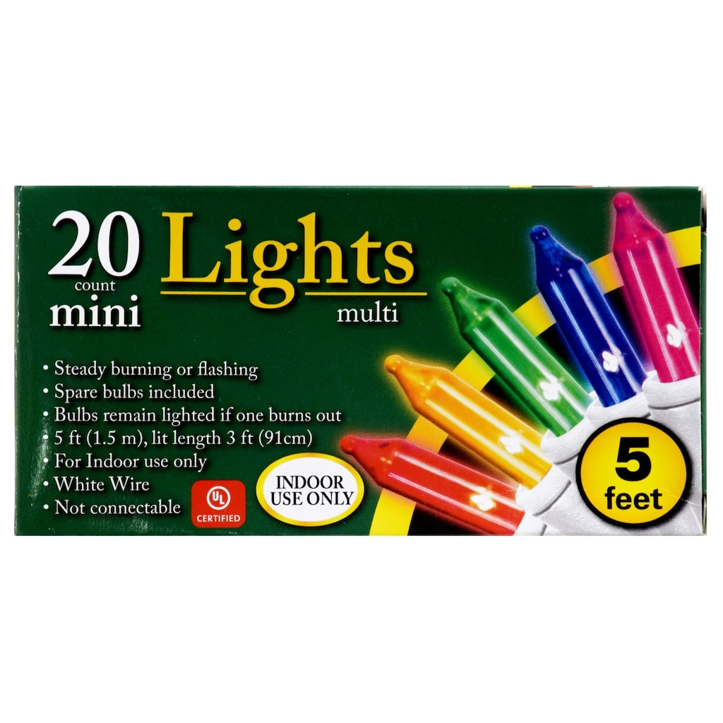 Christmas Lights Dollar Tree Inc Wire In Addition Led Wiring Mini Multicolored 5 Ft Strands